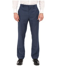 Perry Ellis Solid Texture Flat Front Suit Pants Bay Blue Men's Casual Pants