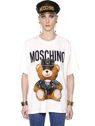 Moschino Teddy Bear Printed Cotton Jersey T Shirt