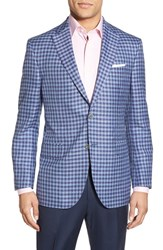 Men's David Donahue Classic Fit Check Wool Blend Sport Coat