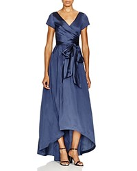 Adrianna Papell High Low Taffeta Gown Navy