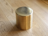 Round Brass Can By Syuro Oen Shop