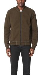 Reigning Champ Heavy Weight Terry Varsity Jacket Olive