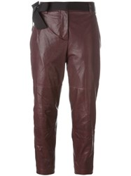 Brunello Cucinelli Cropped Trousers Red