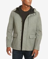 Kenneth Cole New York Men's Fleece Lined Coat Grey