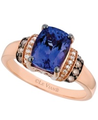 Le Vian Tanzanite 2 Ct. T.W. And Diamond 1 5 Ct. T.W. Ring In 14K Rose Gold