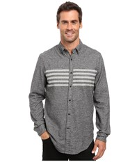Nautica Long Sleeve Stratfor Striped Shirt True Black Men's Long Sleeve Button Up