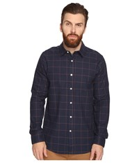 Volcom Akers Long Sleeve Woven Navy Men's Clothing