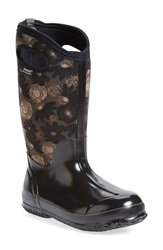 Bogs 'Watercolor' Waterproof Snow Boot With Cutout Handles Women Black Multi
