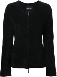 Emporio Armani Zipped Cardigan Black