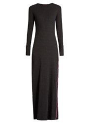 Albus Lumen Long Sleeved Stretch Cotton Maxi Dress Black