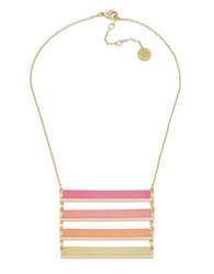 French Connection The Candystick Ii Goldtone Ladder Necklace Pink