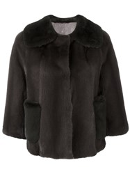 Liska 'Cocotte' Fur Jacket Brown
