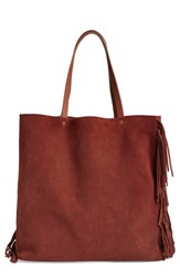 Allsaints 'Club New Lea' Fringe Leather Tote