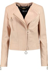 Just Cavalli Leather Biker Jacket Pink