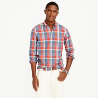 J.Crew Slim Indian Madras Shirt In Poppy