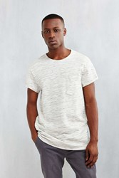 Feathers Rolled Cap Sleeve Tee Grey