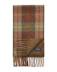Ralph Lauren Brownstone Reversible Plaids Scarf