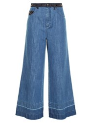 Sonia Rykiel High Rise Wide Leg Cropped Jeans