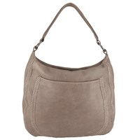 John Lewis Collection Weekend By Georgia Leather Shoulder Bag Grey