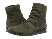 The Flexx Pan Fried Army Suede Women's Shoes Green