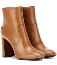 Tod's Leather Ankle Boots Brown
