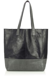 Oasis Leather Shopper Bag Grey