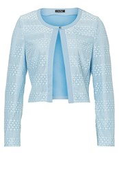 Vera Mont Long Sleeved Lace Panelled Jacket Blue