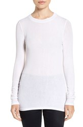 Trouve Women's Sheer Layering Tee White