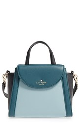 Kate Spade New York 'Cobble Hill Small Adrien' Leather Satchel Green Lakes Edge Forest Black