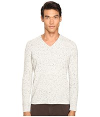 Billy Reid Cashmere V Neck Light Grey Men's Sweater Gray