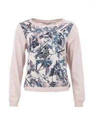 Garcia Cotton Floral Sweater Pink