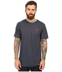 Primitive Arch Pennant Lightweight Tee Navy Heather Men's T Shirt Gray