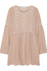 Melissa Odabash Annabelle Embroidered Voile Coverup Nude