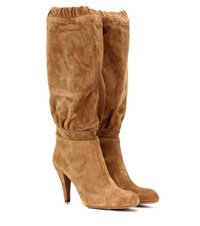 Chloe Lena Suede Knee High Boots Brown