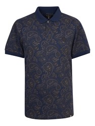 Pretty Green Talma Paisley Polo Navy