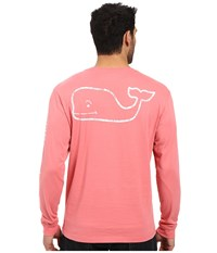 Vineyard Vines Long Sleeve Vintage Whale Pocket Tee Lobster Reef Men's T Shirt Multi