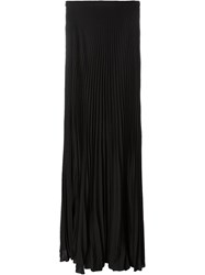 Ralph Lauren Pleated Maxi Skirt Black