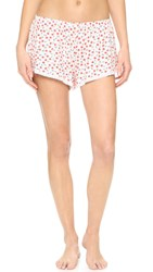 Cosabella Paul And Joe Claire Printed Tap Pj Shorts Vintage Blossom Off White