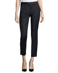 Versace Straight Leg Cropped Trousers Black Size 40