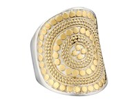 Anna Beck Beaded Saddle Ring Sterling Silver W 18K Gold Vermeil Ring
