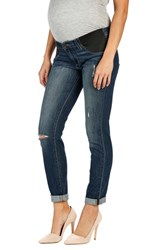 Women's Paige Denim 'Jimmy Jimmy' Boyfriend Skinny Maternity Jeans Tawny Destructed
