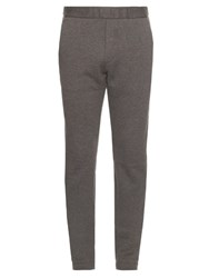 Bottega Veneta Cotton And Wool Blend Track Pants Grey