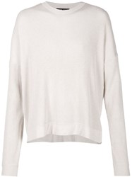 Baja East Ribbed Sweater Nude And Neutrals