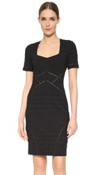 Yigal Azrouel Distressed Compact Stretch Dress Jet