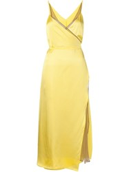 Y Project Layered Dress Yellow And Orange