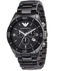 Emporio Armani Watch Men's Chronograph Black Ceramic Bracelet Ar1421