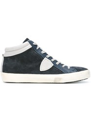 Philippe Model Panelled Hi Tops Blue