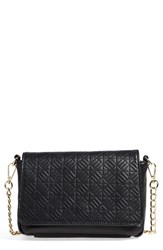 Junior Women's Emperia Quilted Faux Leather Crossbody Bag Black