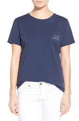 Women's Vineyard Vines Whale Graphic Short Sleeve Pocket Tee Blue Blaze