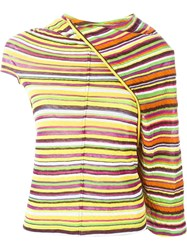 Junya Watanabe Comme Des Gara Ons Striped Top Multicolour